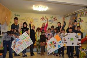 Децата от Първо телевизионна школа в Запорожие покрепят ранената Лиза