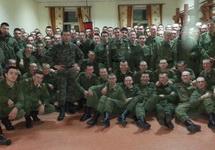Войниците от военно поделение № 12128, селоТоцкое-4, Оренбургска област. Снимка: mamasoldata.mybb.ru