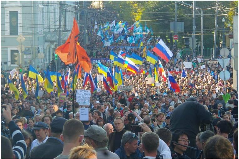 """Десетки хиляди излязоха в Москва на """"Марш на мира"""""""
