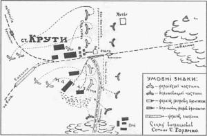 Схема на боя при Крути