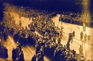 Тържествено препогребване на студентите в Киев на 19 март 1918г.