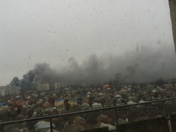Град Мариупол обстрелян от терористите, има жертви