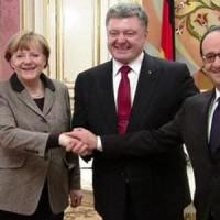 Порошенко, Меркел и Оланд пет часа са обсъждали начините за решаване на конфликта с Русия