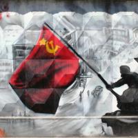 Съветското знаме над Райхстага, колаж