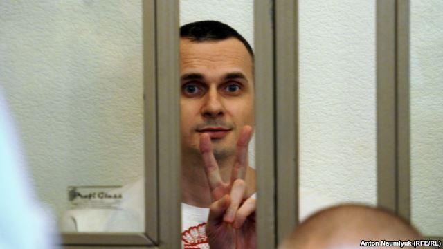 Олег Сенцов в съдебната зала на 19 август. Снимка: Антон Наумлюк